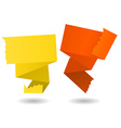 Origami banner-yellow and orange vector image