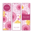 pink field flowers vertical banners set pattern vector image vector image