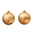 realistic golden christmas ball vector image vector image