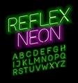 reflex neon font vector image