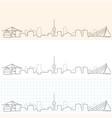rotterdam hand drawn skyline vector image vector image