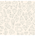 Seamless pattern made of line art crystals vector image