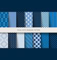 seamless patterns polka dots set vector image vector image