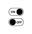 simple flat icon on and off toggle switch button vector image vector image