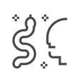 snake virus icon vector image