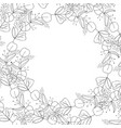 spiral organic herbal wreath frame vector image