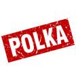 square grunge red polka stamp vector image vector image