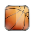 Square icon for basketball app or games vector image vector image