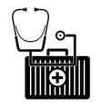 stethoscope first aid kit icon simple style vector image