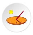 Sundial icon cartoon style vector image vector image