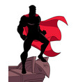 superhero roof silhouette vector image vector image