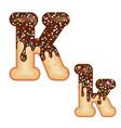 tempting typography font design 3d donut letter k