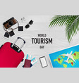 travel and tourism concept with items vector image vector image