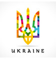ukraine emblem colored vector image vector image