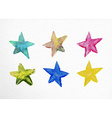 Watercolor stars set hand drawn vector image