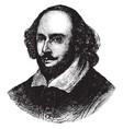 william shakespeare vintage vector image vector image