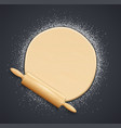 wooden rolling pin vector image vector image