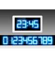 digital clock with a set of numbers vector image