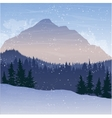 mountain landscape with fir trees and snow vector image