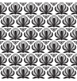 Seamless black pattern on a white background vector image