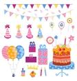Big set of a holiday attributes vector image