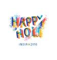 Happy Holi celebration creative flyer vector image