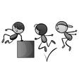 Doodles kid doing free jump vector image