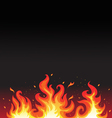 hot fiery flames background vector image
