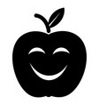 smile apple icon simple black style vector image