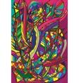 spiral decorative doodles vector image