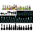 alcohol assortment vector image vector image