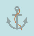 anchor and rope flat design icon nautical comcept vector image vector image