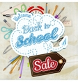 Back to School Sale Design EPS 10 vector image