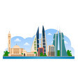 bahrain manama skyline with colorful buildings vector image