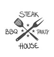bbq steak bbq party house image vector image vector image