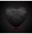 Black polygonal heart background vector image vector image