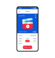 booking tickets smartphone interface template