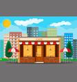 cafe shop exterior cityscape vector image