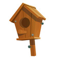 cartoon birdhouse isolated on white background vector image vector image
