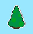 christmas tree icon isolated over blue background vector image