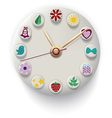 Clock Hand Made with colorful button vector image vector image
