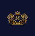 coat of arms foodie vector image vector image