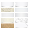 Collection of note papers background eps 10 vector image vector image