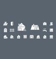 construction repair icons set web mobile 04 vector image vector image