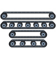 Conveyor Belt With Wheels Pack vector image vector image