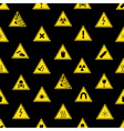 danger signs types seamless pattern eps10 vector image vector image