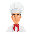 face expression of young professional chef man in vector image vector image