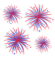 Fireworks isolated Star and strip Flat design vector image vector image
