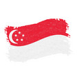 flag of singapore grunge abstract brush stroke vector image