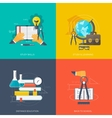 Flat concept education backgrounds set Back to vector image vector image
